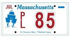 PL85 - Massachusetts License Plate