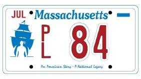 PL84 - Massachusetts License Plate