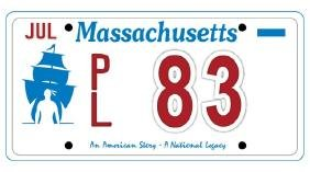 PL83 - Massachusetts License Plate