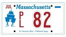 PL82 - Massachusetts License Plate