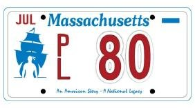PL80 - Massachusetts License Plate