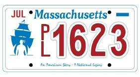 PL1623 - Massachusetts License Plate