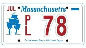 PL78 - Massachusetts License Plate