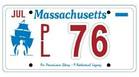 PL76 - Massachusetts License Plate