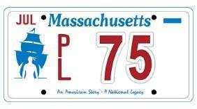 PL75 - Massachusetts License Plate