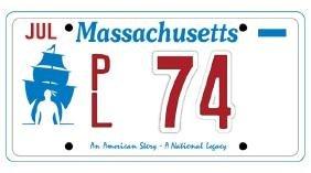 PL74 - Massachusetts License Plate