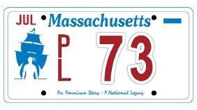 PL73 - Massachusetts License Plate