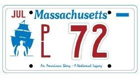 PL72 - Massachusetts License Plate