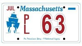 PL63 - Massachusetts License Plate