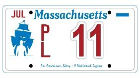 PL11 - Massachusetts License Plate