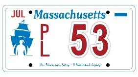 PL53 - Massachusetts License Plate