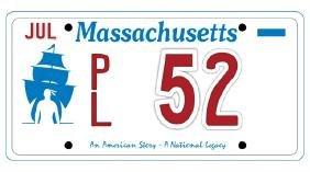 PL52 - Massachusetts License Plate