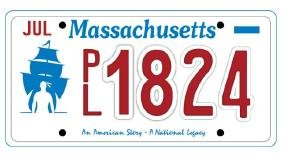 PL1824 - Massachusetts License Plate