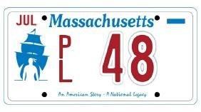 PL48 - Massachusetts License Plate
