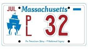 PL32 - Massachusetts License Plate