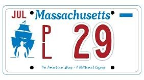 PL29 - Massachusetts License Plate