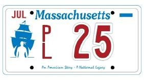 PL25 - Massachusetts License Plates