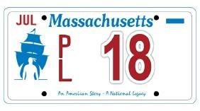 PL18 - Massachusetts License Plate