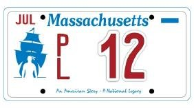 PL12 - Massachusetts License Plate