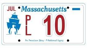 PL10 - Massachusetts License Plate