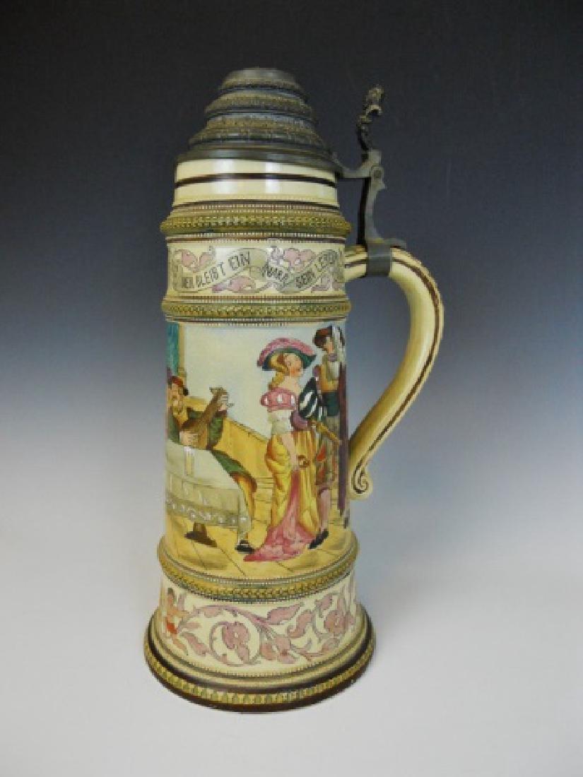 Antique German Mettlach Style Master Stein