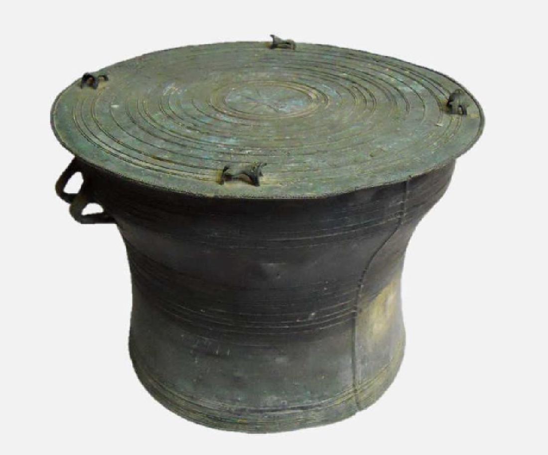 Antique Bronze Thai Rain Drum, Small Size