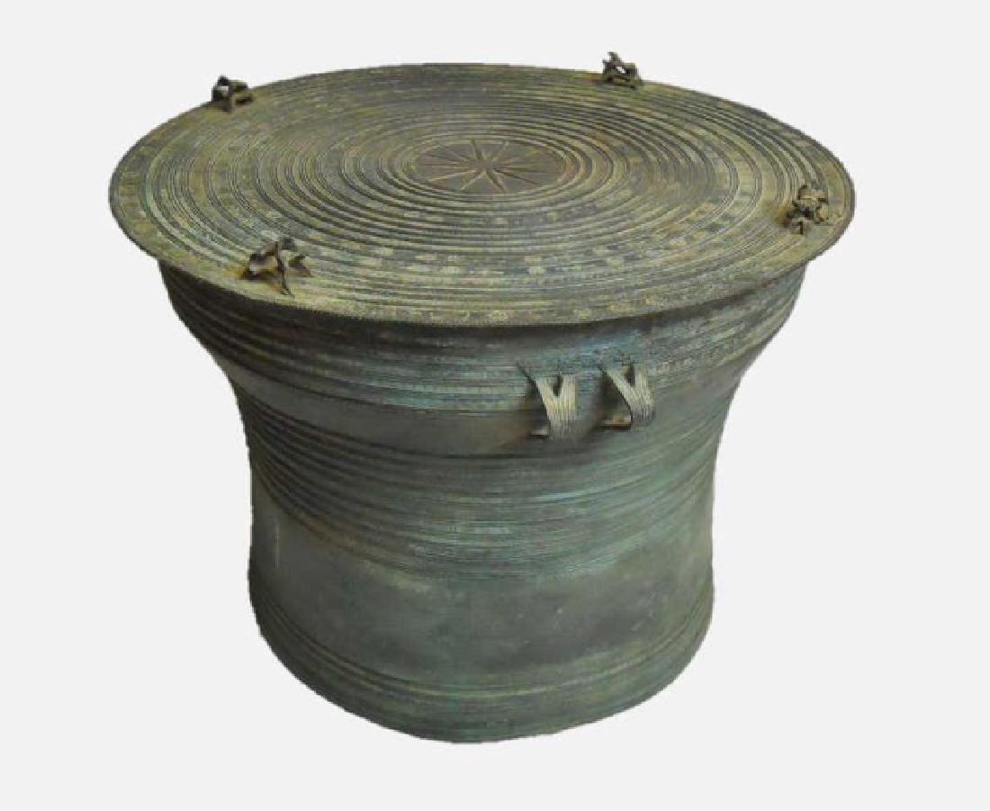 Antique Bronze Thai Rain Drum, Medium Size
