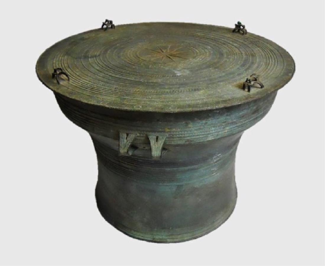 Antique Bronze Thai Rain Drum, Large Size