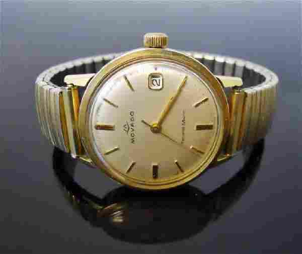 1960's 14K Gold Men's Watch, Movado Sub-Sea