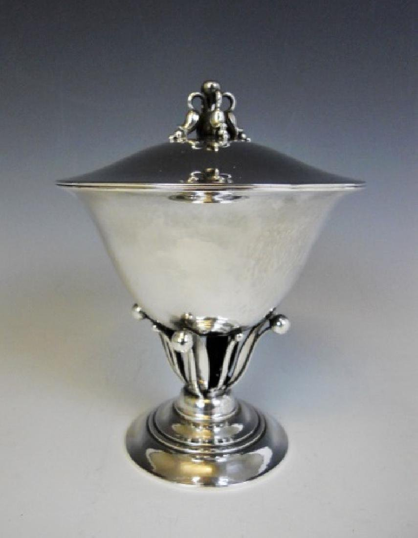 Sterling Silver Lidded Compote, Georg Jensen