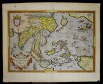 17th C Map INDIAE ORIENTALIS Abraham Ortelius