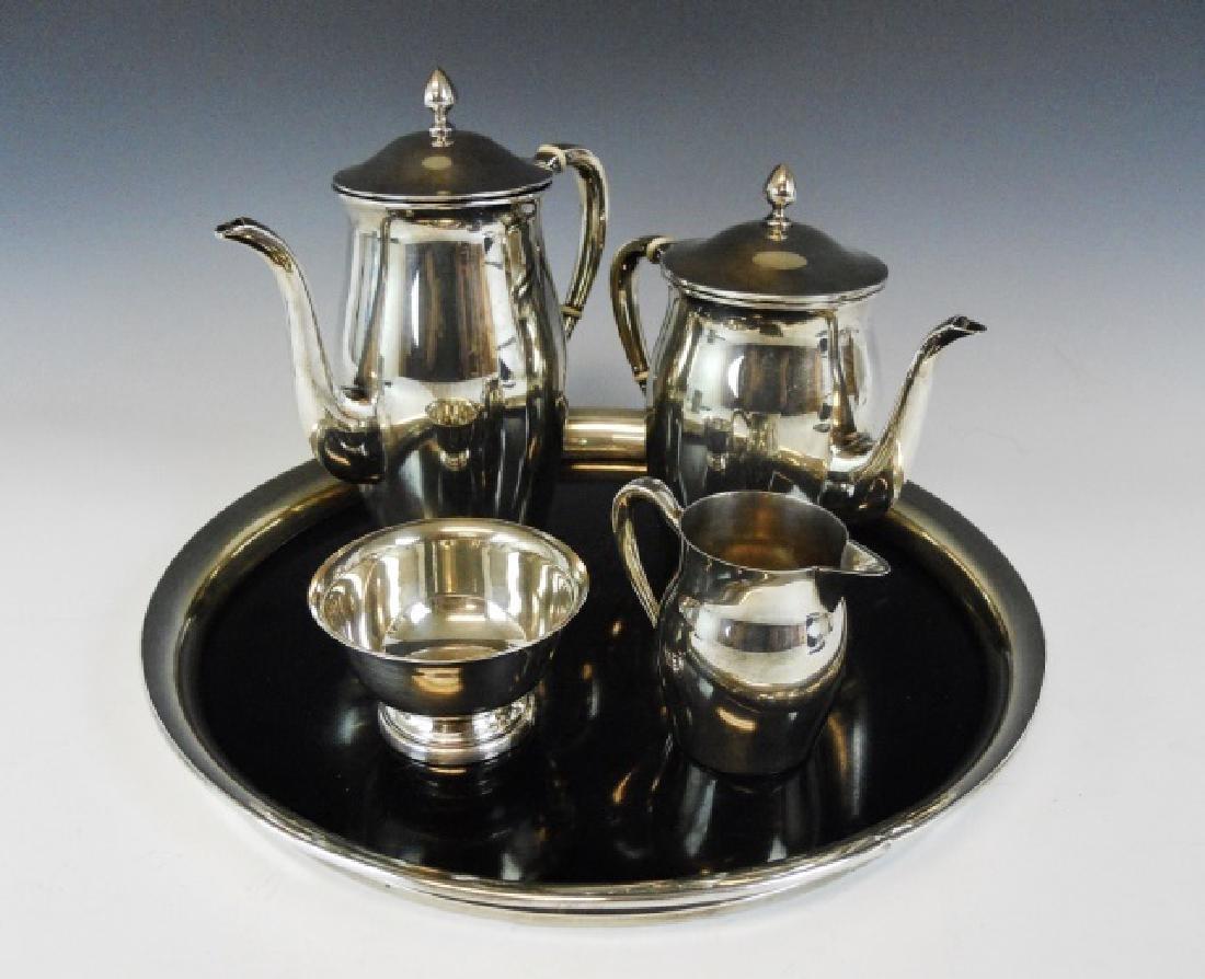 Sterling Silver Tea Set, Poole, (5 pc)