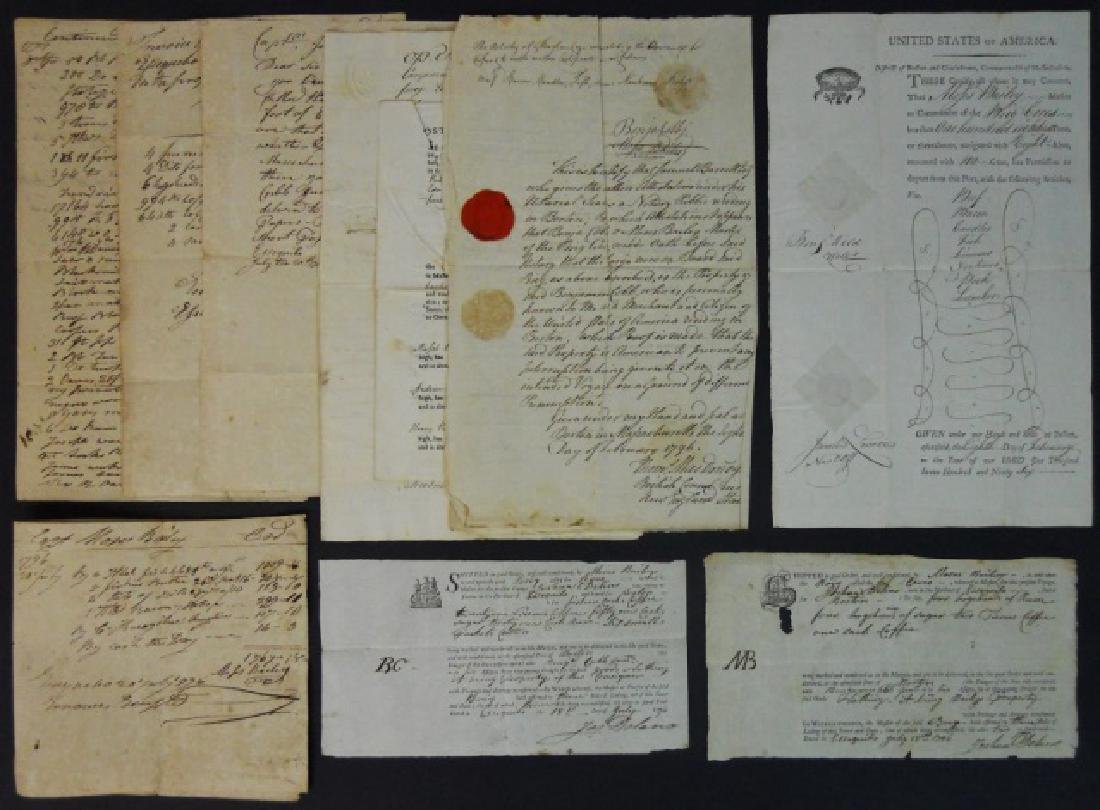19th C. Delano Ship's Papers, S.S. Ceres (10pc)