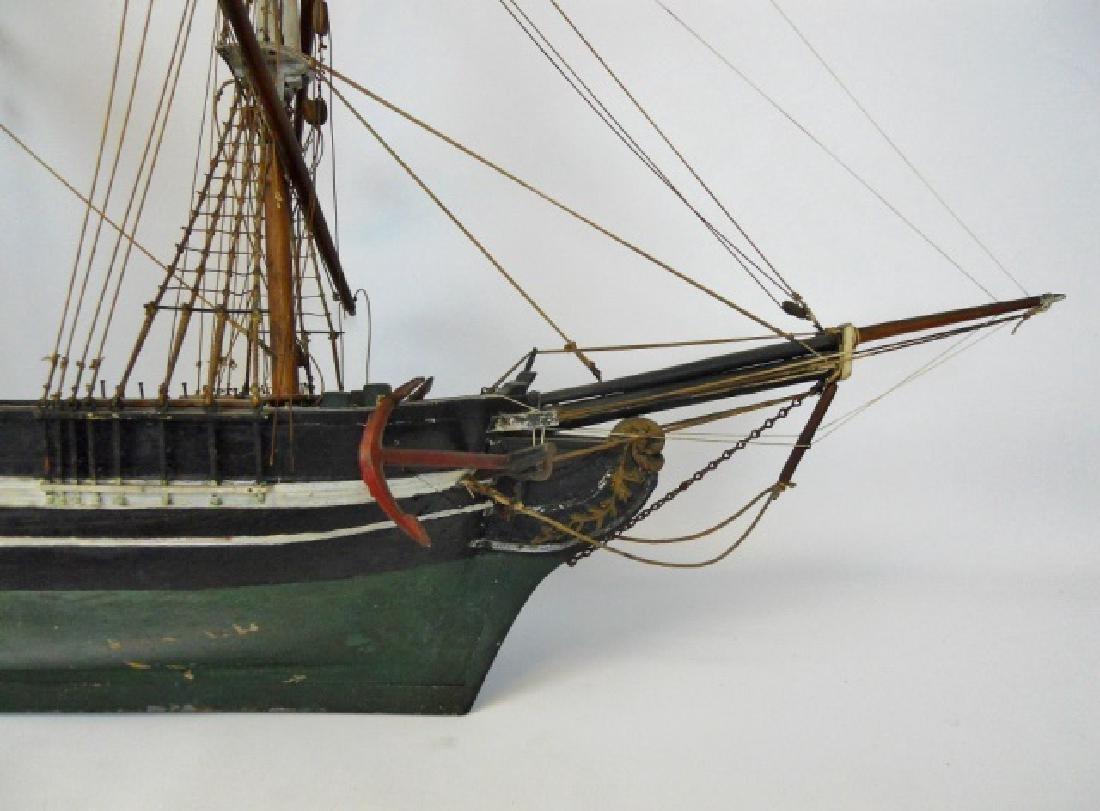 19th C. Model of  a Three- Masted Sailing Ship - 3