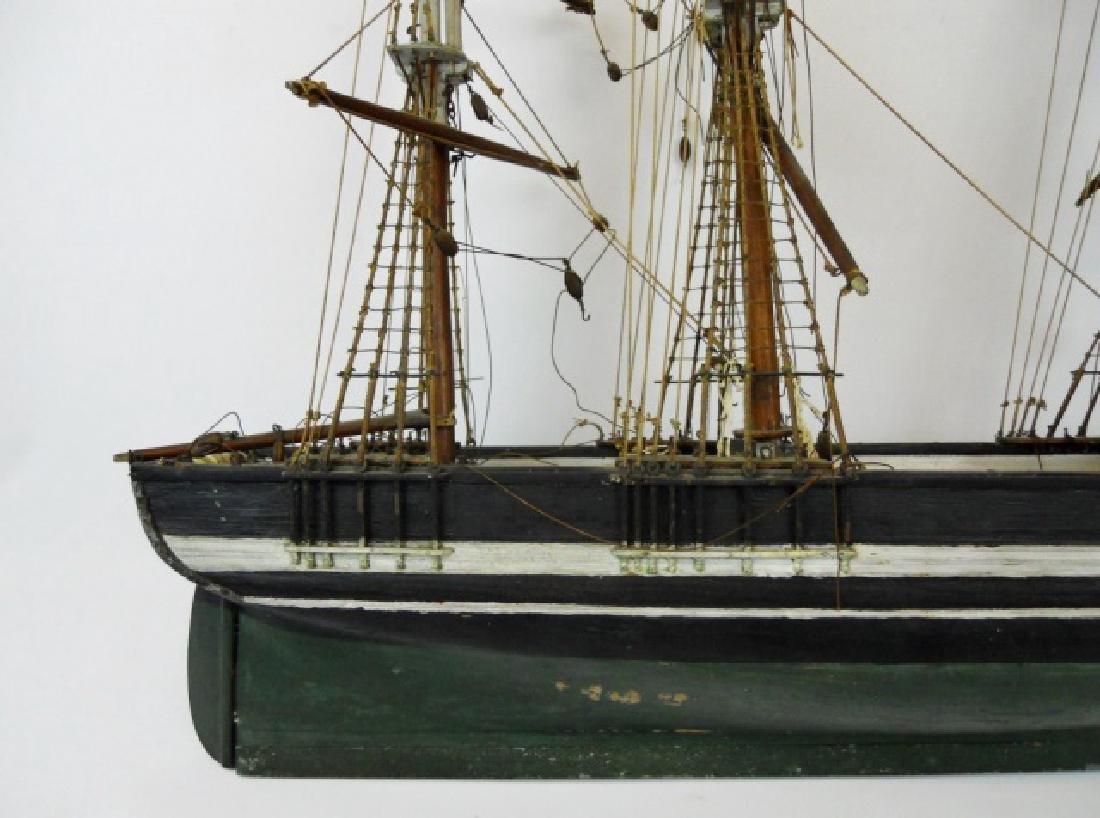 19th C. Model of  a Three- Masted Sailing Ship - 4
