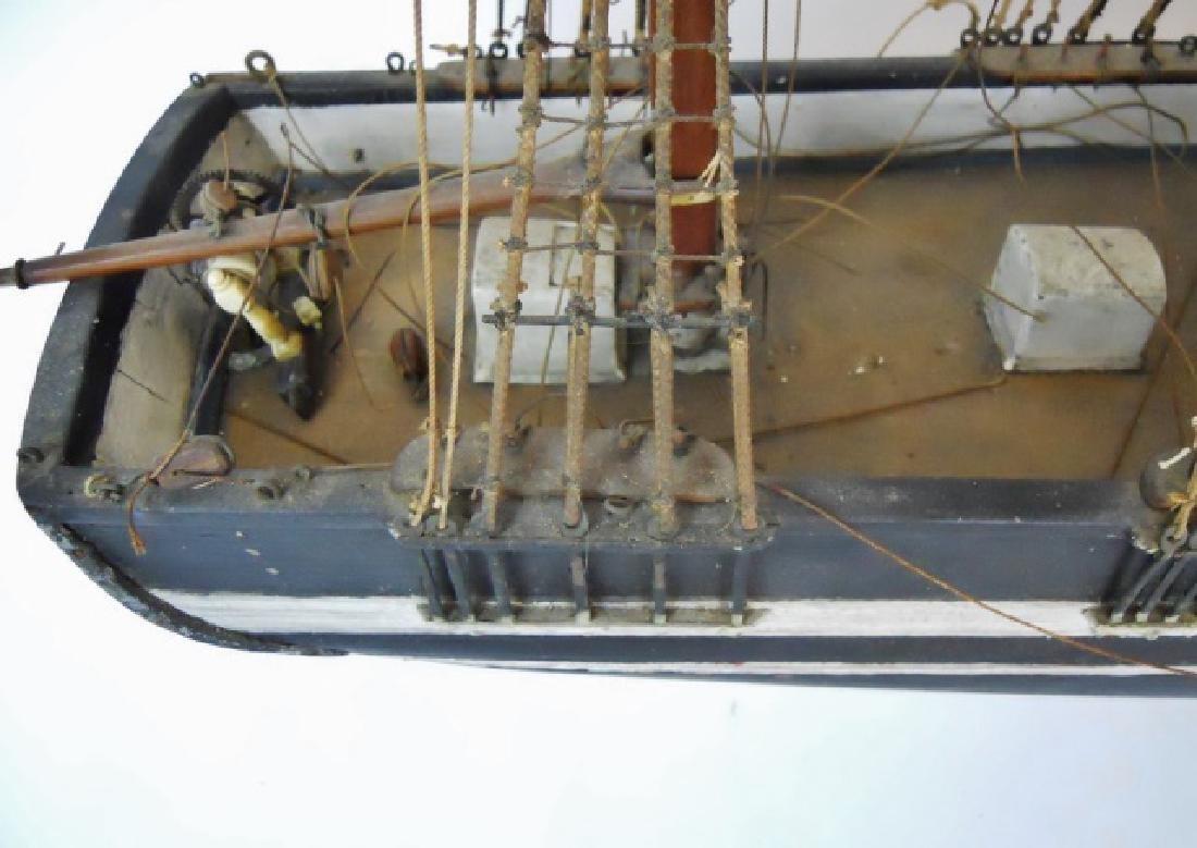 19th C. Model of  a Three- Masted Sailing Ship - 6