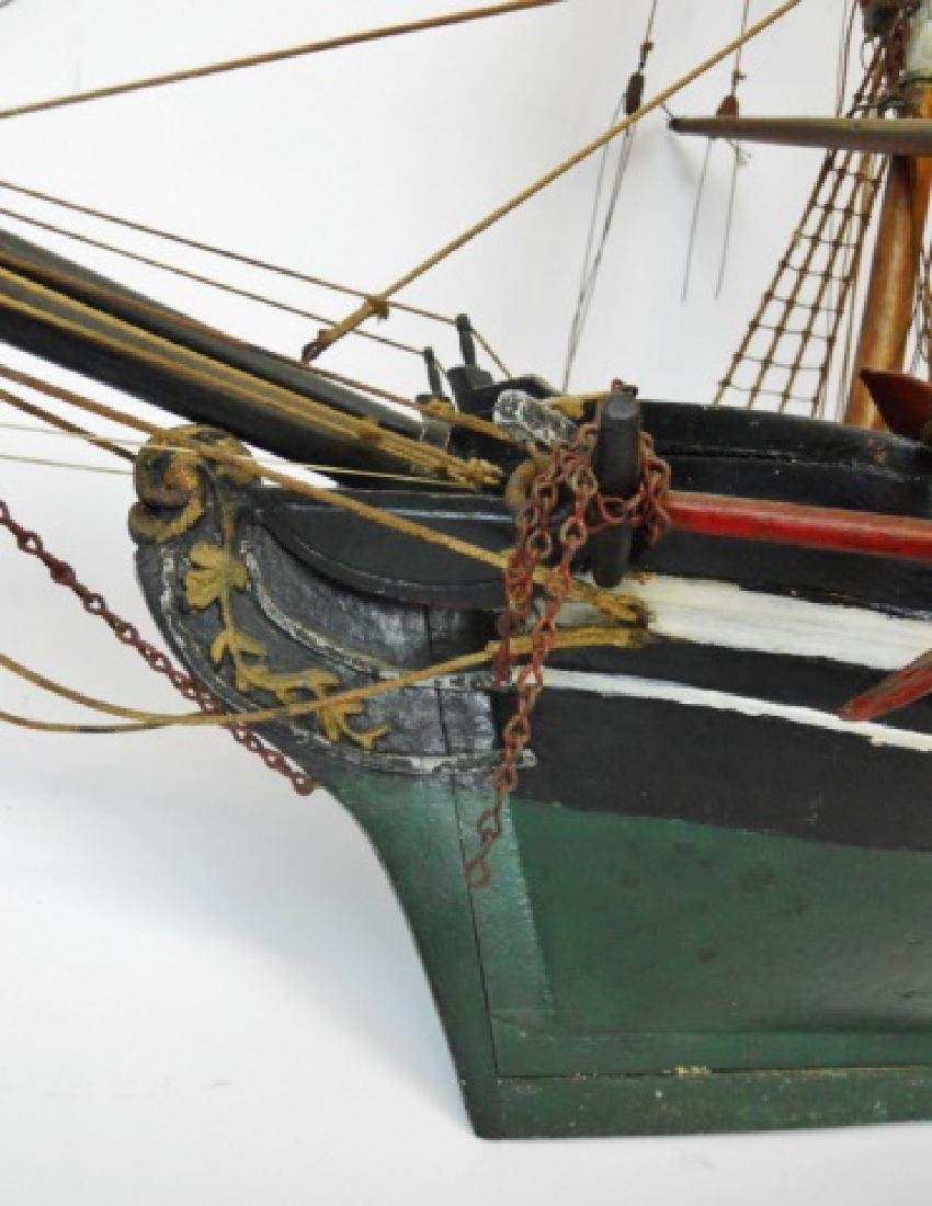19th C. Model of  a Three- Masted Sailing Ship - 8
