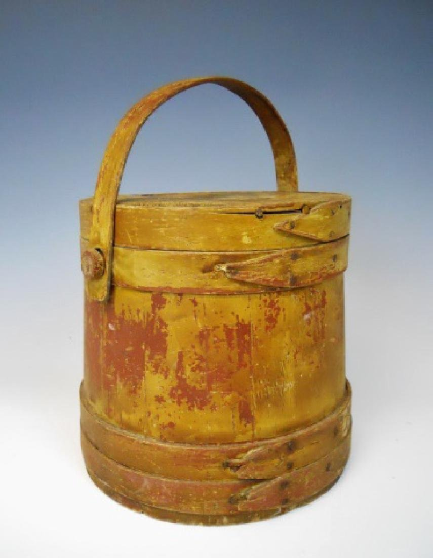 19th C. Firkin in Old Yellow Paint