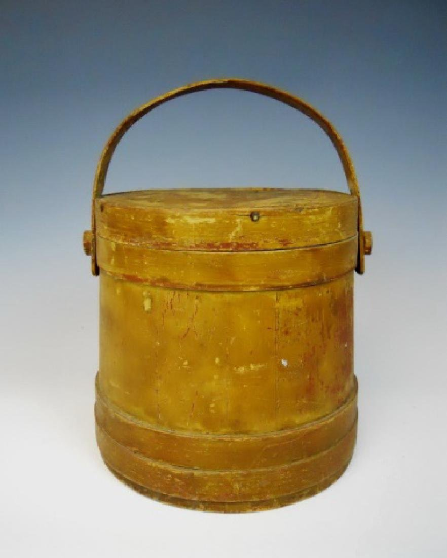 19th C. Firkin in Old Yellow Paint - 2