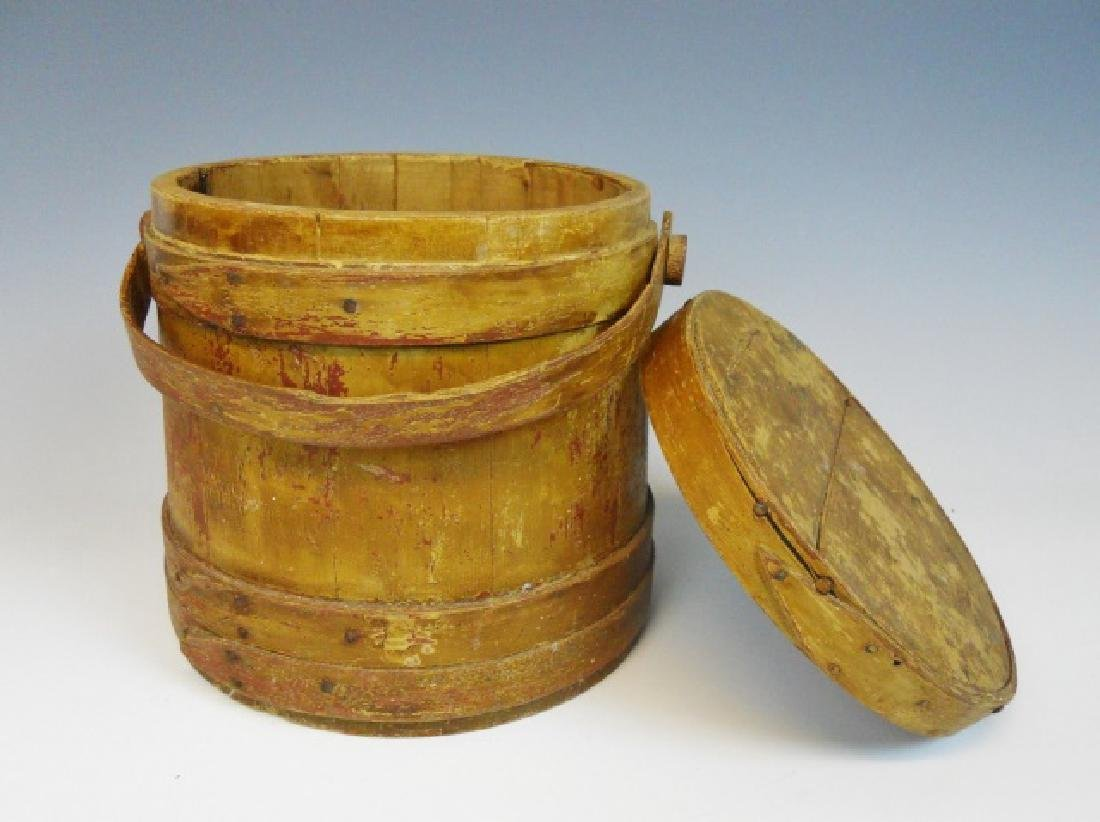 19th C. Firkin in Old Yellow Paint - 3
