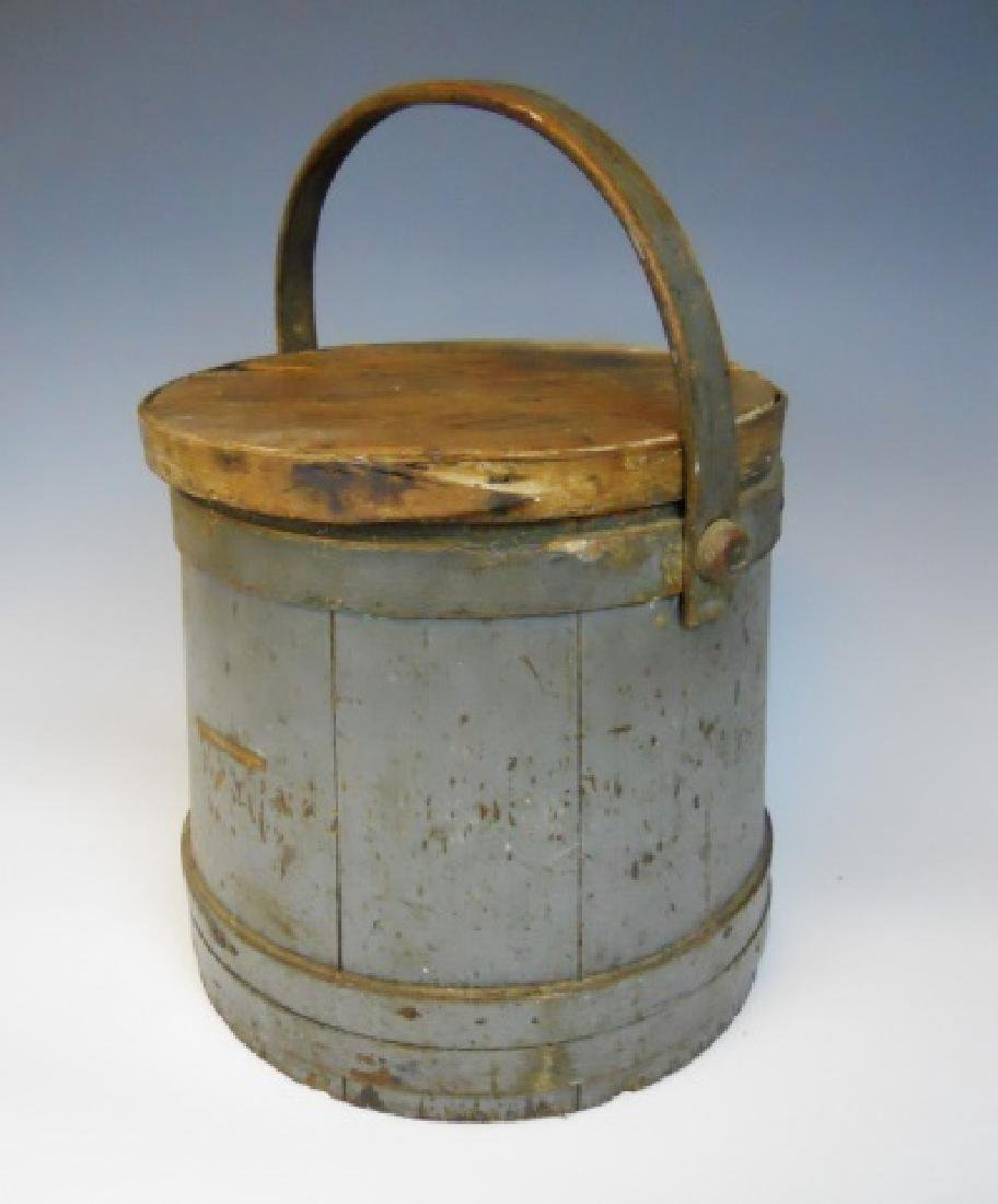 19th C. Firkin in Old Grey Paint