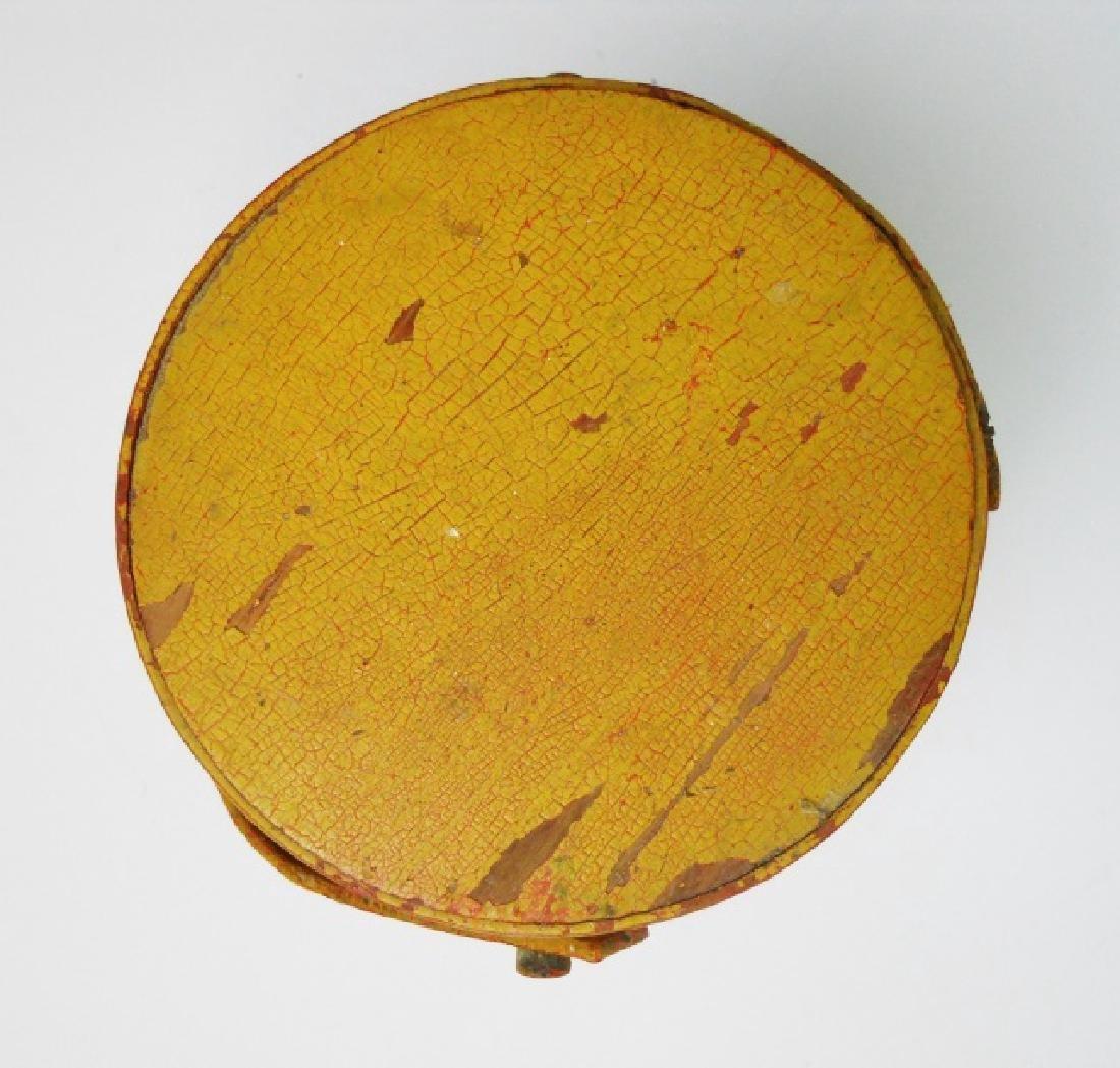 19th C. Miniature Wood Firkin in Old Paint - 4