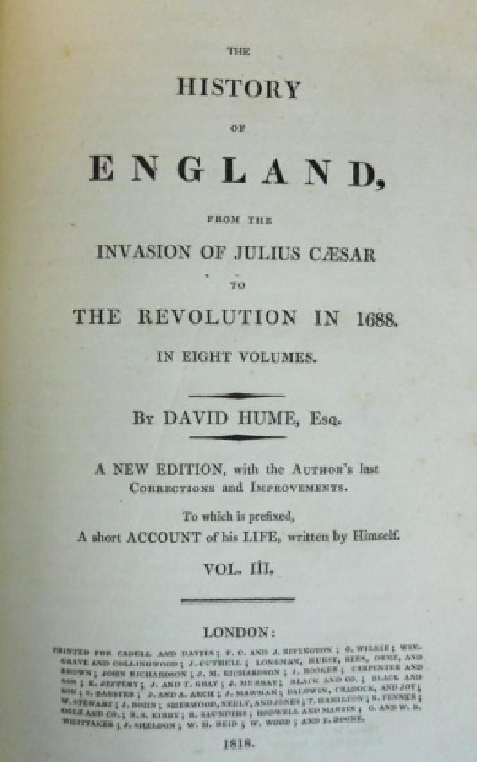 The History of England, David Hume, 1818, (8 vol) - 3