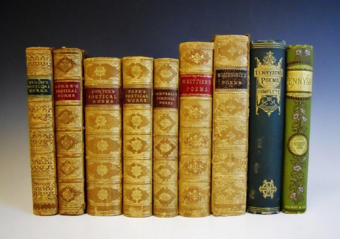 Collection of 19th C Books of Poetry (9pc)