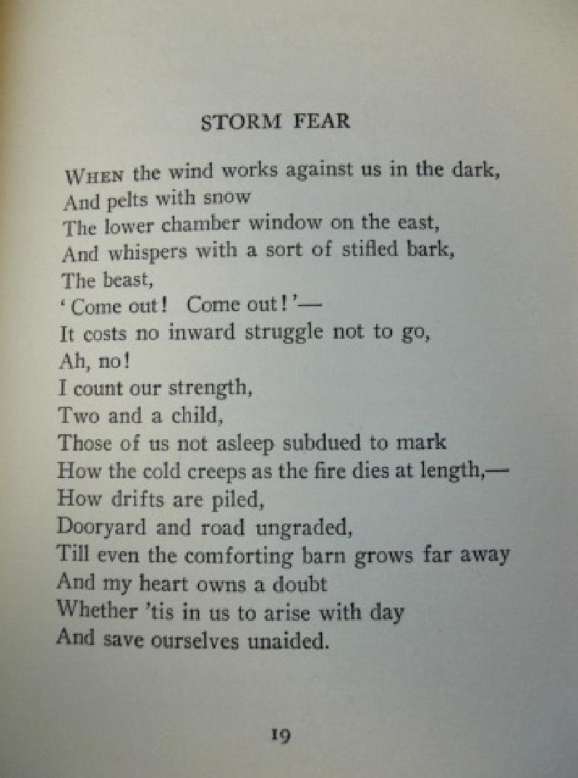 'A Boy's Will', Robert Frost, First Edition, 1915 - 4