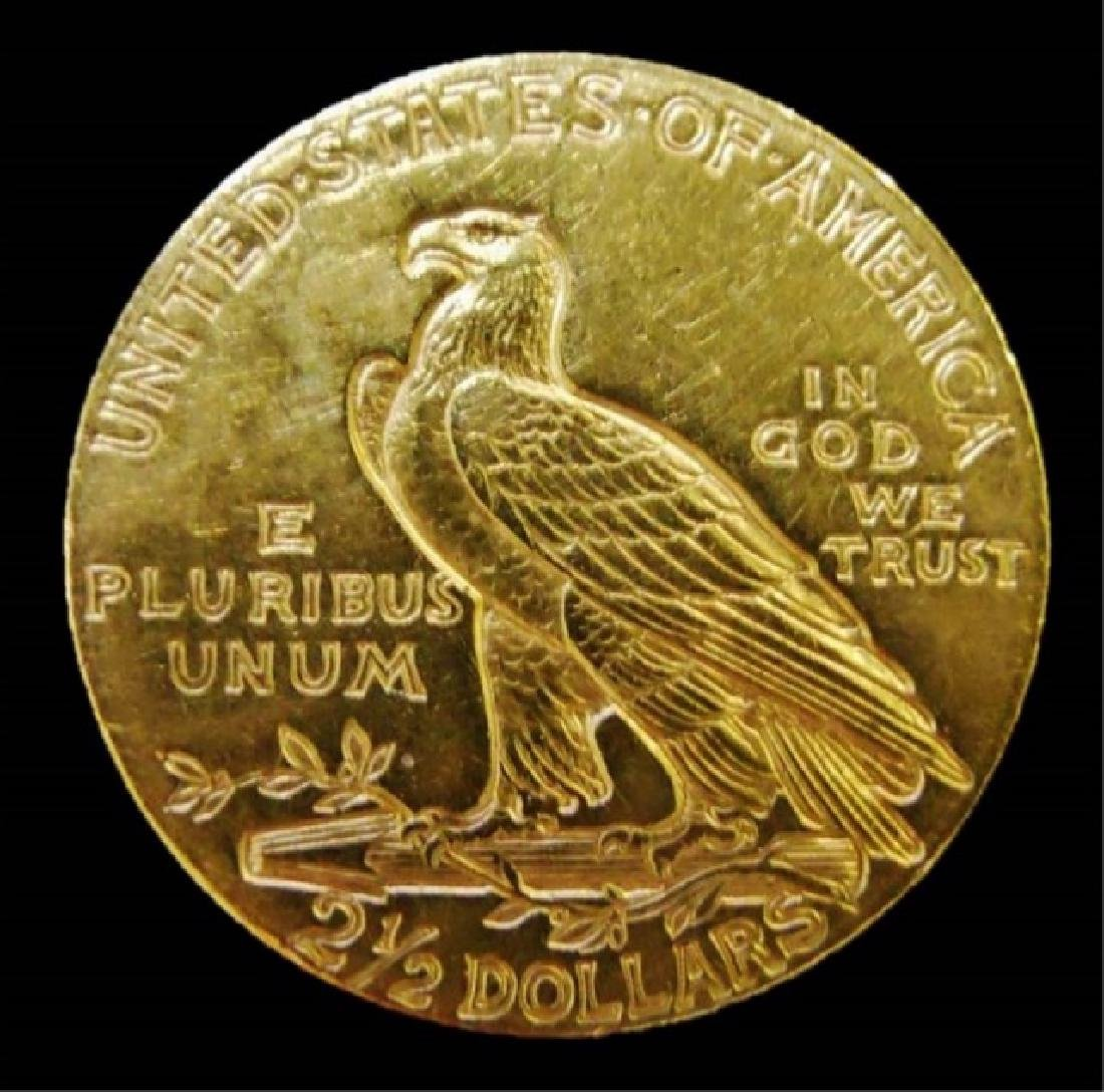 US 1910 Indian $2.50 Gold Coin - 2