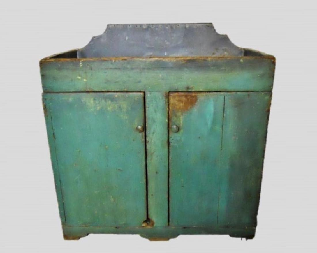 19th C. New England Dry Sink in Old Paint