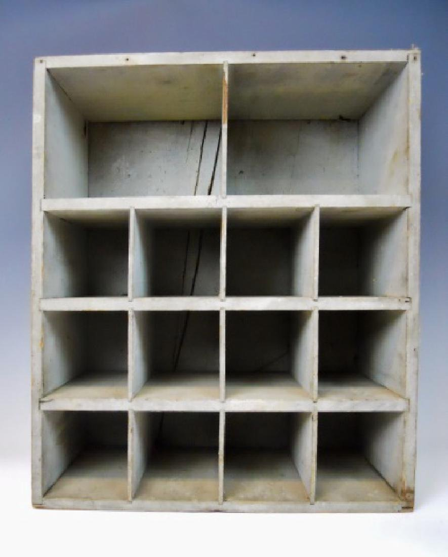 19th C. Hanging Wall Cabinet in Old Paint - 3