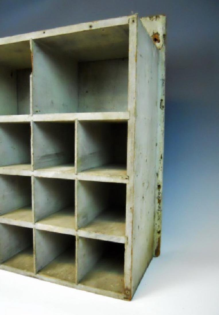 19th C. Hanging Wall Cabinet in Old Paint - 4