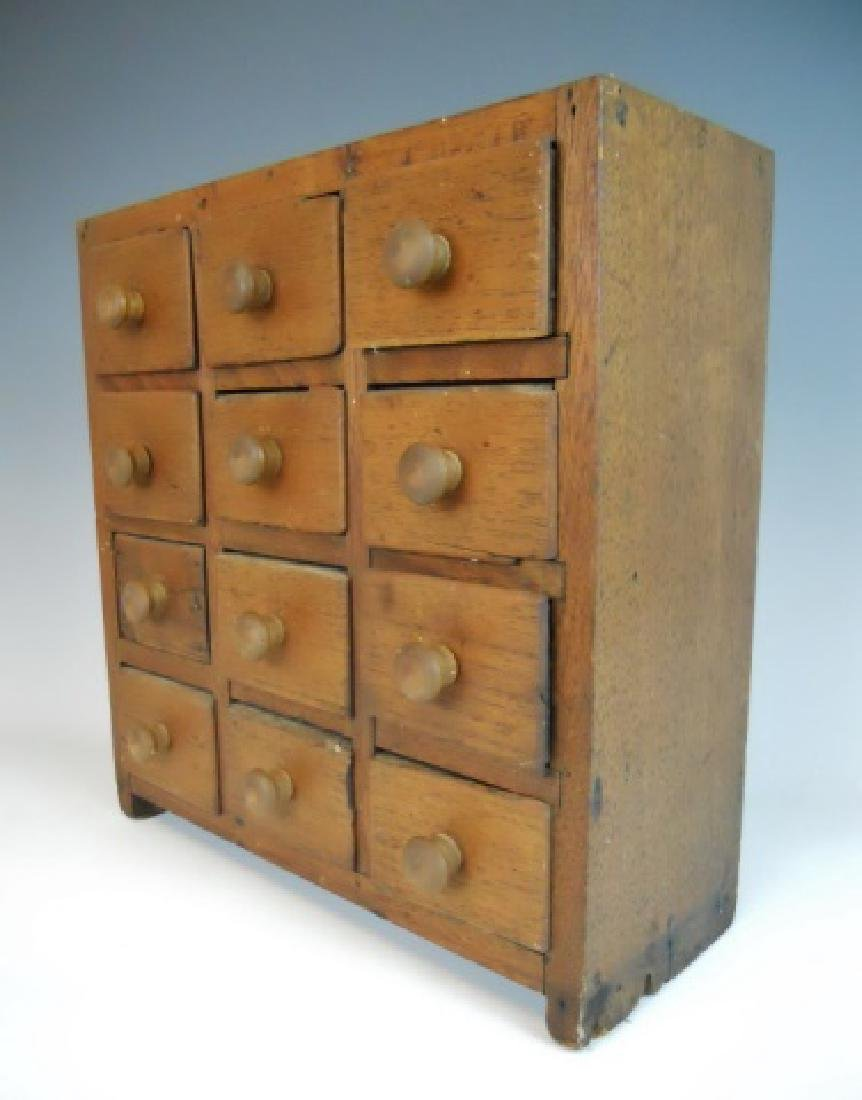 19th C. Spice Cabinet with 12 Drawers - 2